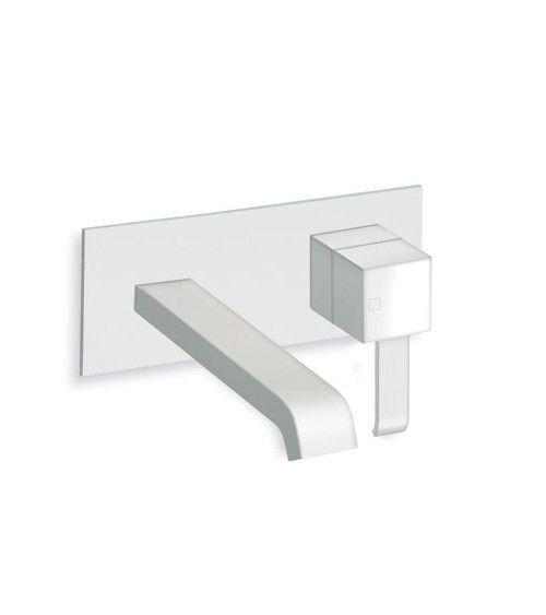 Mitigeur lavabo mural Blanc- QUADRI