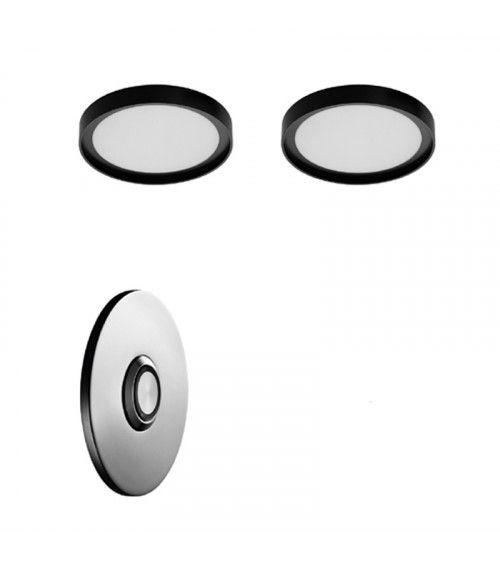 Kit 2 lampes LED RGB avec bouton rond Ninfea Aquaelite 160 mm