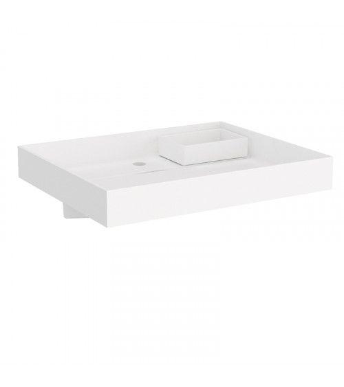Lavabo avec conteneur d'eau The Grid Cosmic blanc mat 60cm