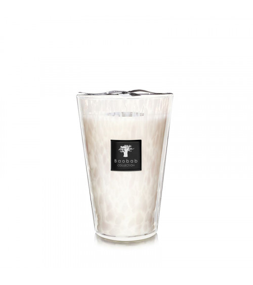 Bougie Max 35 Baobab Pearls White