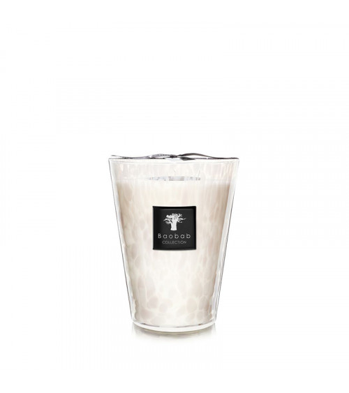 Bougie Max 24 Baobab Pearls White