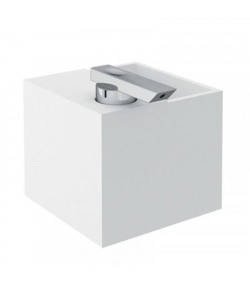 Porte-savon liquide + porte-savon à dents à poser The Grid Cosmic chromé-blanc
