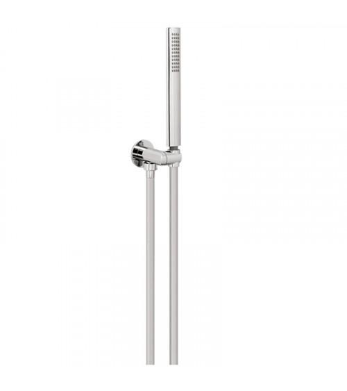 Set de douche avec douchette et flexible PVC 150 cm Techno Aquaelite