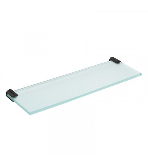 Tablette vitrée Logic Cosmic noir mat 30cm