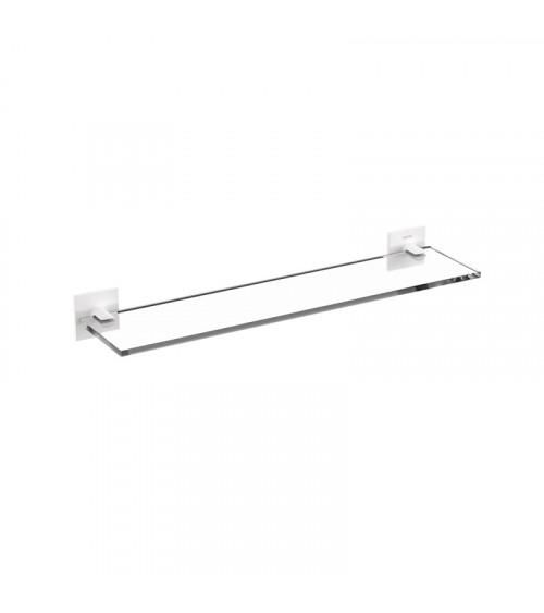Tablette vitrée Stick Bath + by Cosmic blanc mat longueur 40 cm
