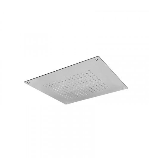 Plafond de douche à encastrer à faux plafond Metal 316 Aquaelite 400 x 400 mm acier brossè