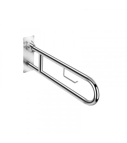 Barre d'appui relevable avec porte-rouleaux Architecte Cosmic chromé