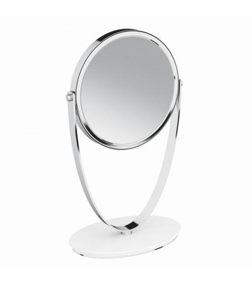 Miroir grossissant à poser Belle Pomd'or blanc mat-chromé