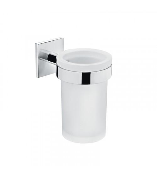 Porte-brosse à dents Duo square Bath + by Cosmic chromé