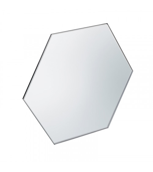 Miroir à poser hexagonal Mirage Pomd'or gris