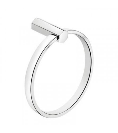 Porte-serviette anneau Mirage Pomd'or chromé