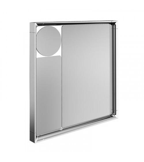 Miroir triptyque Mirage Pomd'or chromé