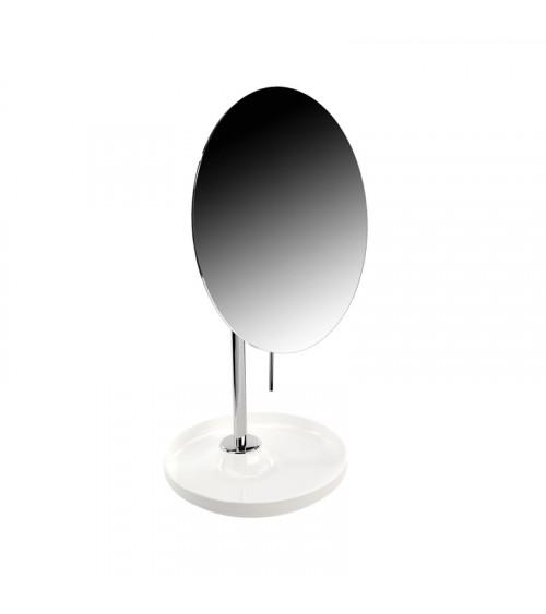 Miroir grossissant (x5) Equilibrium Pomd'or blanc brillant-chromé