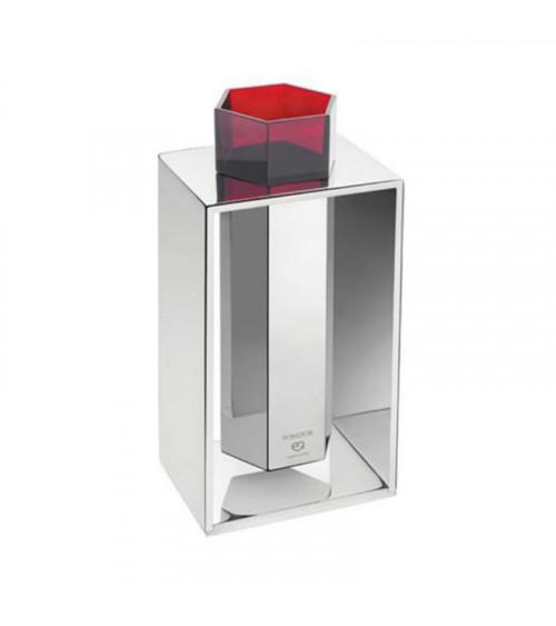 Porte-brosse à dents avec cadre de comptoir Mirage Pomd'or chrome-rubis