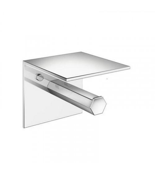 Porte-rouleaux avec couvercle Mirage Pomd'or chromé