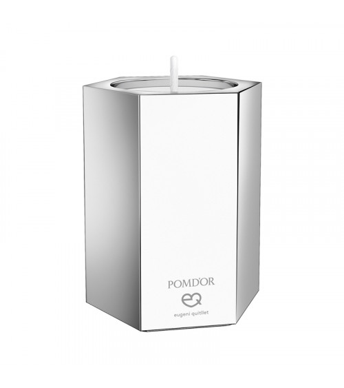 Bougeoir grand modèle Mirage Pomd'or chromé