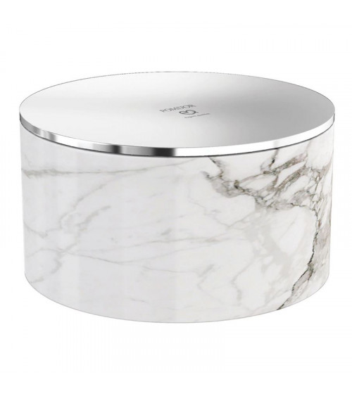 Flacon Mirage Pomd'or chrome-carrara brillant