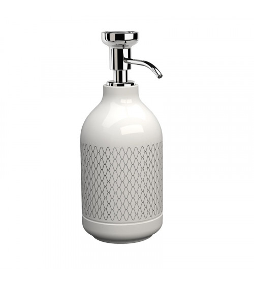 Porte-savon liquide à poser Equilibrium Pomd'or netting blanc brillant-chromé