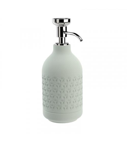 Porte-savon liquide à poser Equilibrium Pomd'or hexagone celadon-chromé