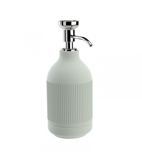 Porte-savon liquide à poser Equilibrium Pomd'or rayures celadon-chromé
