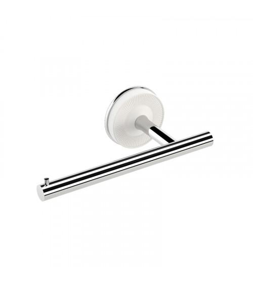 Porte-rouleaux sans couvercle gauche Equilibrium Pomd'or blanc mat-chromé