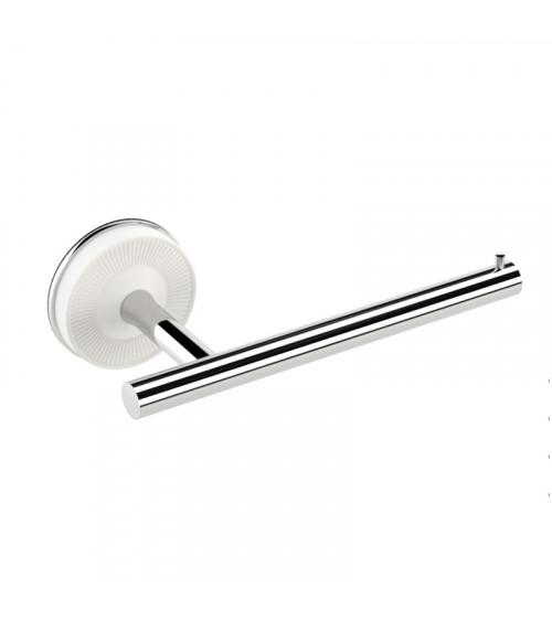 Porte-rouleaux sans couvercle droit Equilibrium Pomd'or blanc mat-chromé
