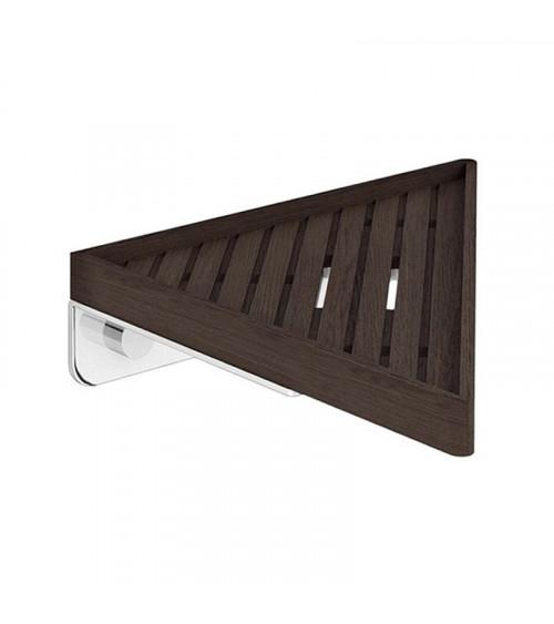 Panier de douche en angle Eda Pomd'or bambou noir - chromé