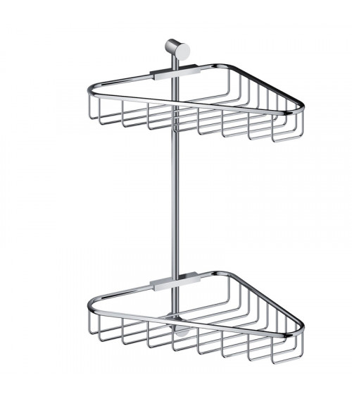 Porte-objets d'angle double Cobber Hotbath chromé