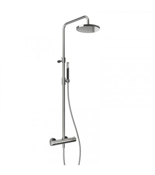 Kit de douche avec mitigeur thermostatique mural, pomme de douche, douchette et flexible Cobber Hotbath
