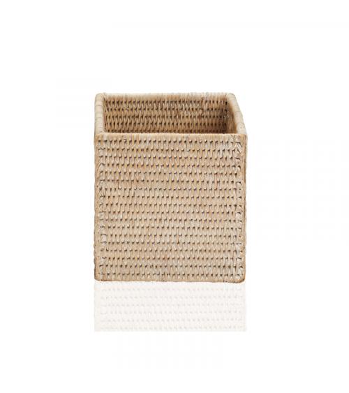 Boîte sans couvercle carré BASKET BOD Basket Decor Walther Rotin clair