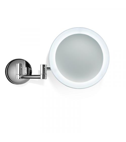 Miroir cosmétique mural 5x avec éclairage LED BS 60/V N Decor Walther chromé