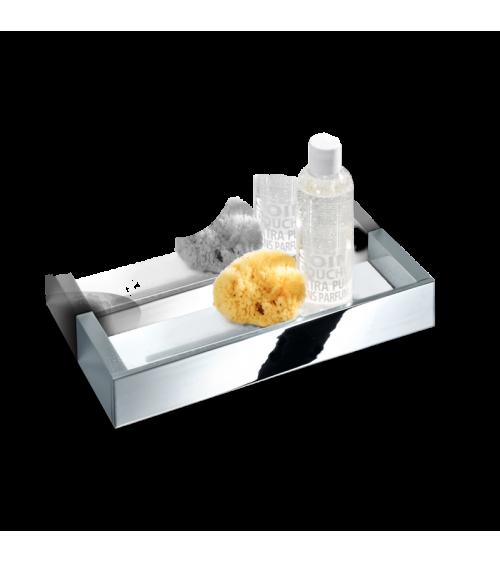 Étagère pour la douche en verre acrylique blanc 30 cm BK DA30 Brick Decor Walther chromé / verre acrylique blanc