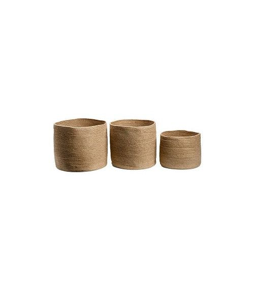 Set de 3 paniers ronds Big JUTE naturelle - JUTE
