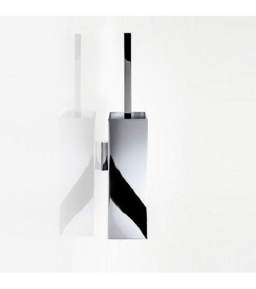 Porte-balai WC sans couvercle, mural, métal chromé - CORNER