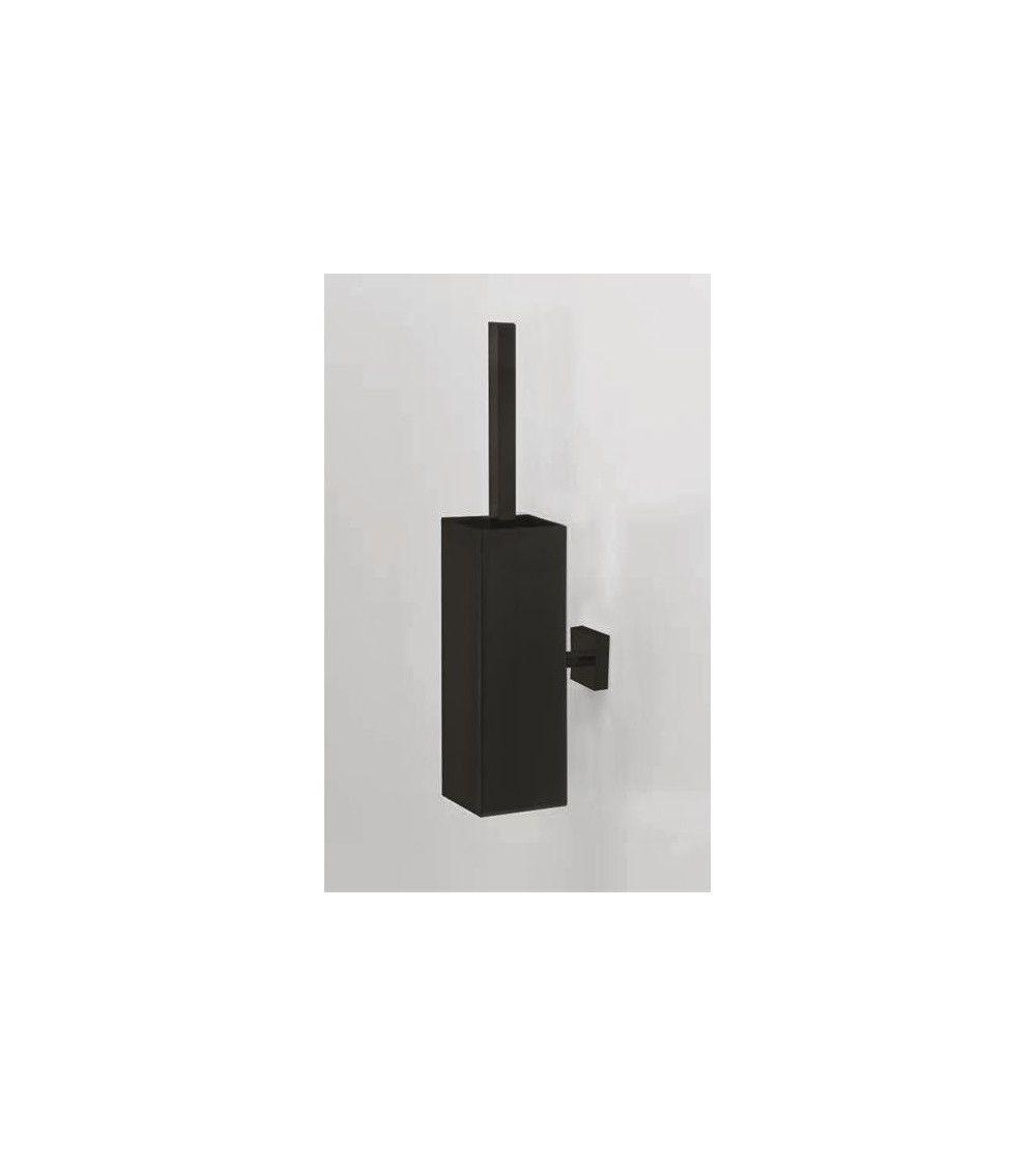 Porte balai wc mural sans couvercle noir mat corner decor for Porte balai wc mural