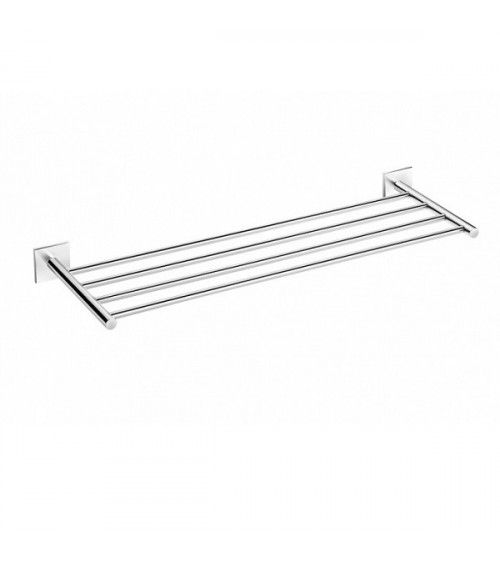 Porte-serviette rack mural 60cm à coller chromé-DUO Square