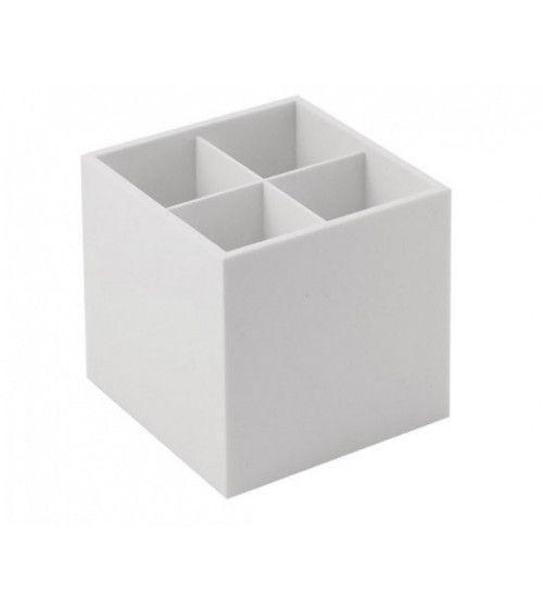 Cube Organizer à poser en résine blanche - Bath Life