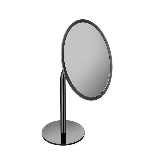 Miroir cosmétique Ø 20cm x3, à poser, noir - Black & White