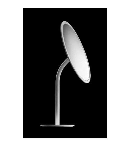 Miroir cosmétique Ø 20cm x3, à poser, blanc - Black & White