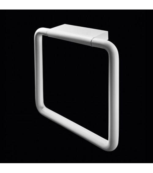 Porte-serviette anneau mural 20cm blanc - Black & White