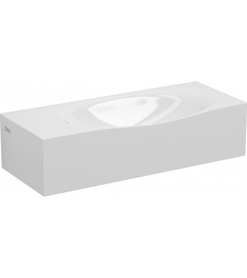 Lave-mains marbre minéral blanc 45cm - HAMMOCK