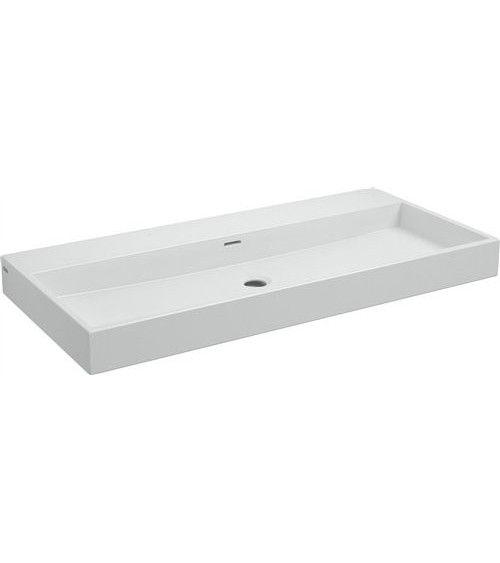 Lavabo 90cm ceramique blanche - WASH ME