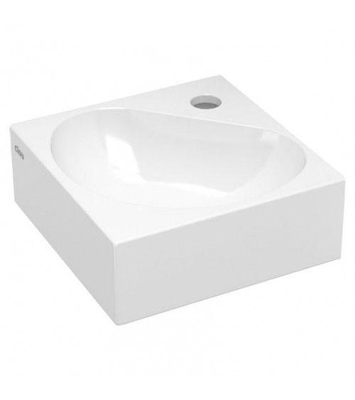 Lave-mains d'angle ceramique blanche 27cm - Flush 5