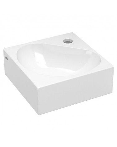 FLUSH 5 Lave-mains d'angle ceramique blanche 27cm