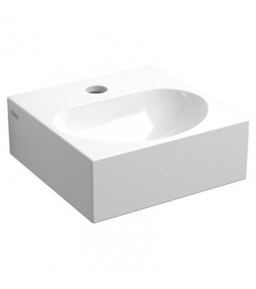 FLUSH 4 Lave-mains carré 27cm ceramique blanche