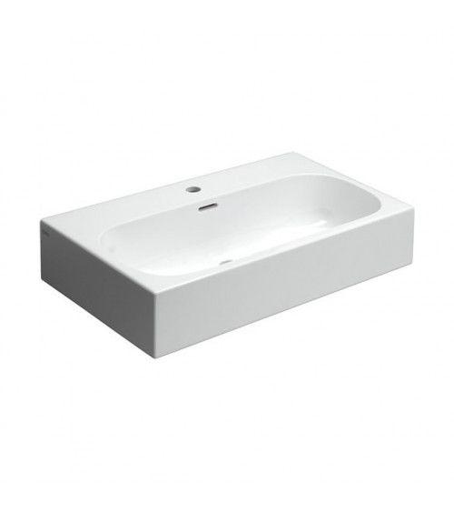 Lavabo 70cm ceramique blanche - Match Me