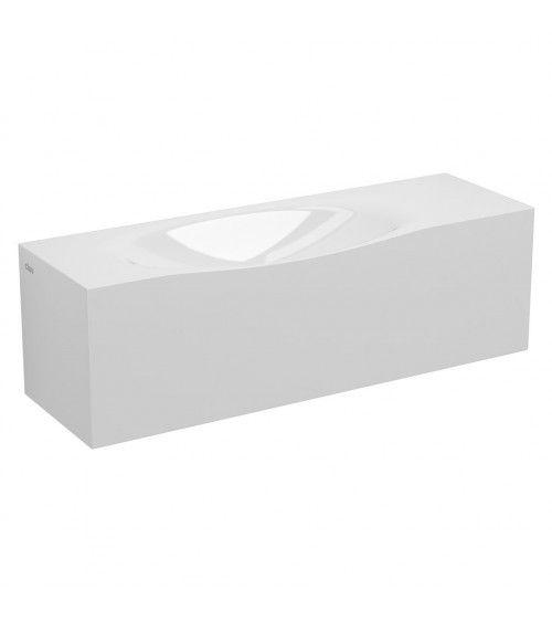 Lave-mains marbre minéral blanc 65cm - HAMMOCK
