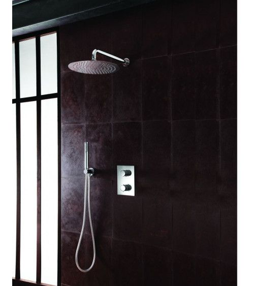 Pack de douche encastrée thermostatique classique - Triverde