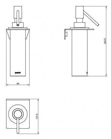 Distributeur de savon liquide mural 125ml- Kubic