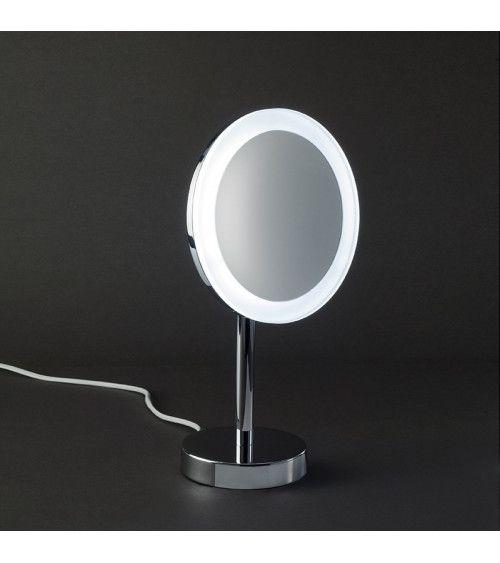 Miroir cosmétique chromé x3 avec LED BS63